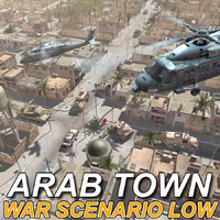 Arab Town War Scenario Low res. Textured