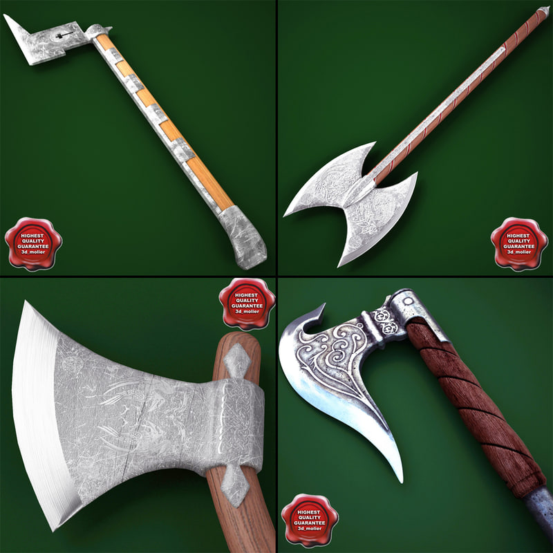 3d medieval axes v2
