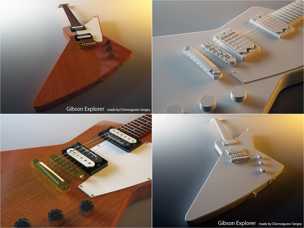 gibson explorer 3d model