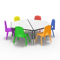 3d model desk chairs