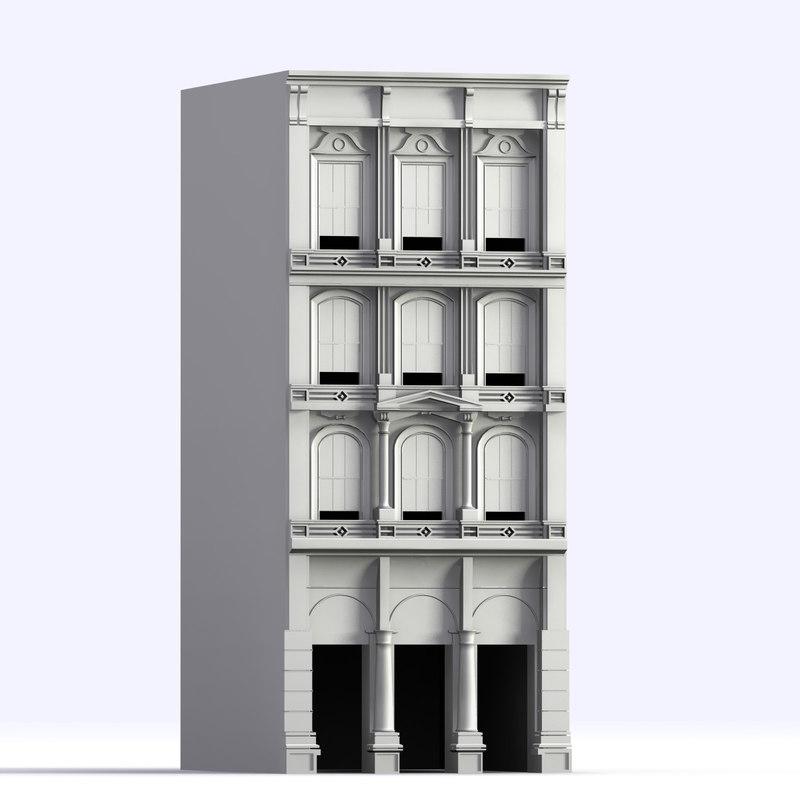 building facade 3d 3ds