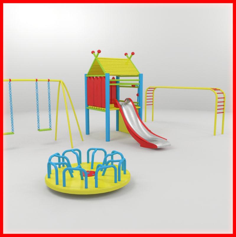 3d children playground model