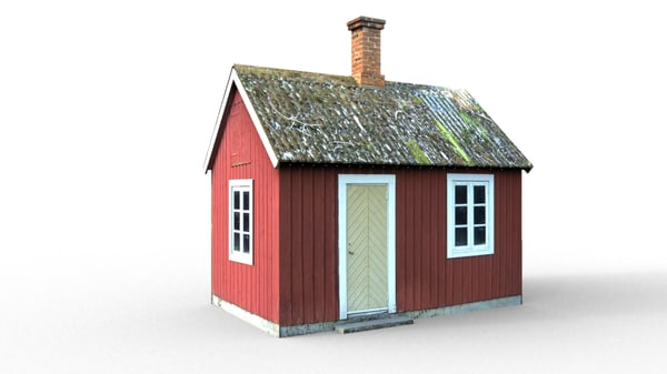 3d model small cottage