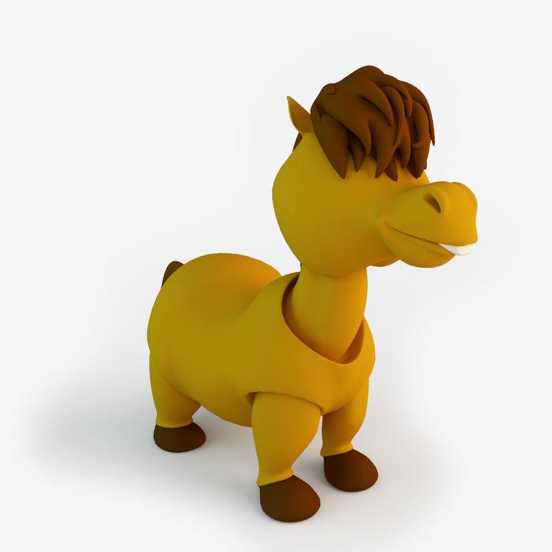 3d toy horse