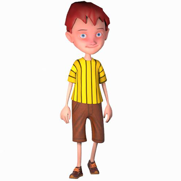 boy cartoon 3d max