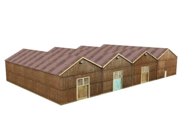 storehouse wood 3d model