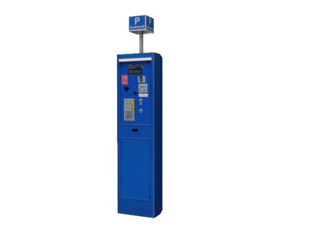 3d model ticket machine car parking