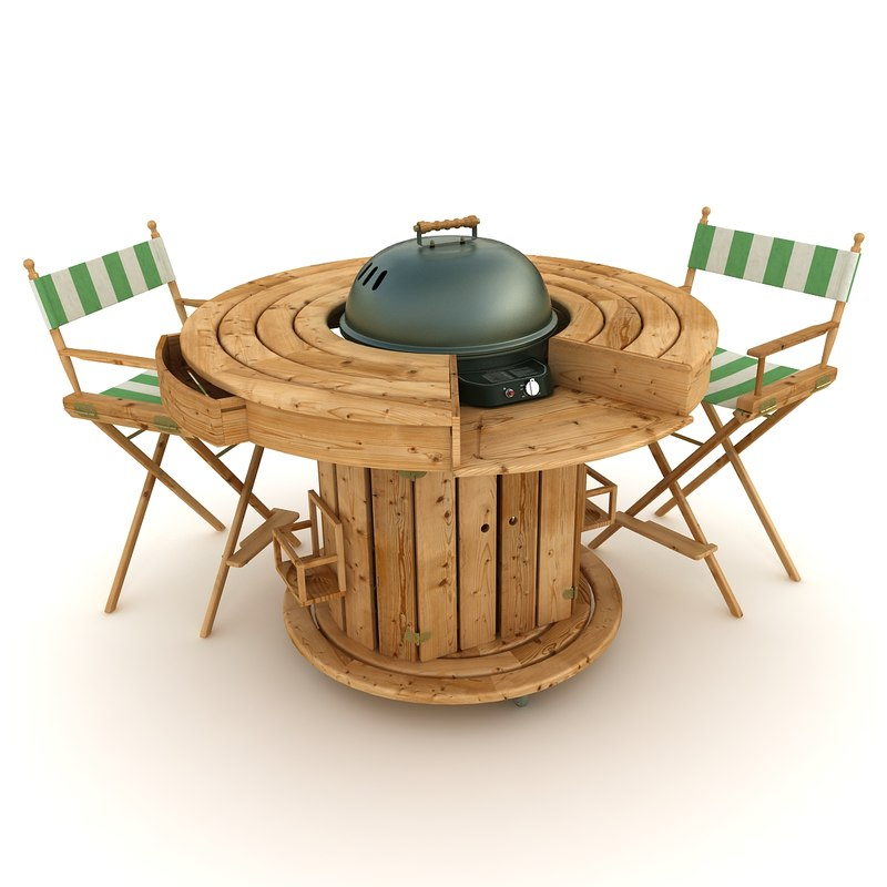 3d barbecue table. Black Bedroom Furniture Sets. Home Design Ideas
