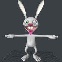 3d model of bunny cartoon character