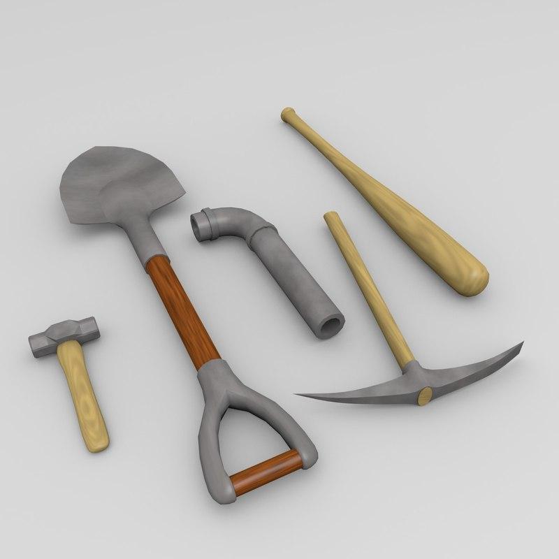 obj melee weapons