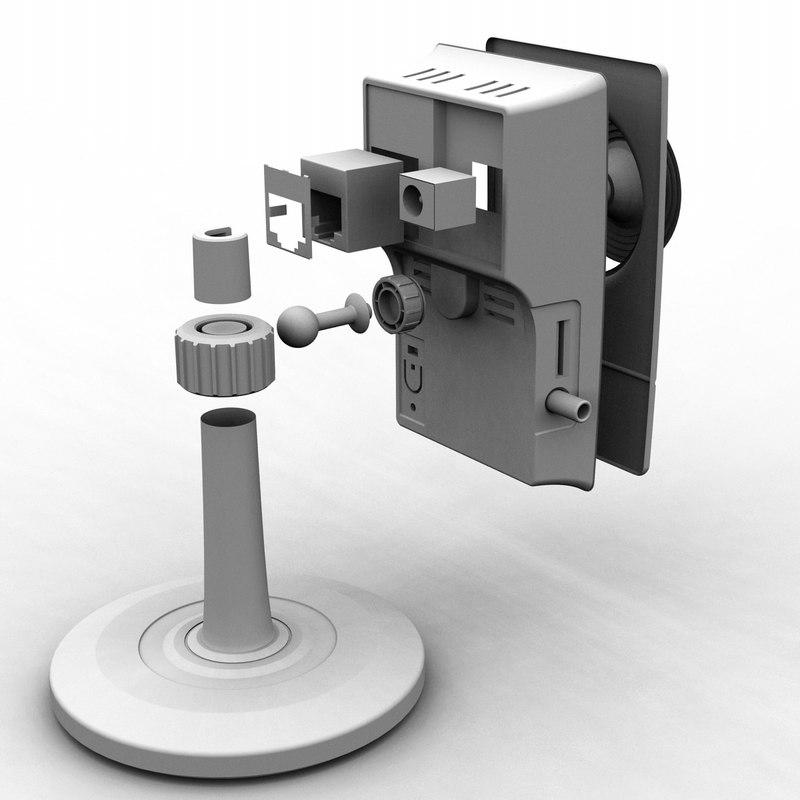 3d model ip camera d-link 2130