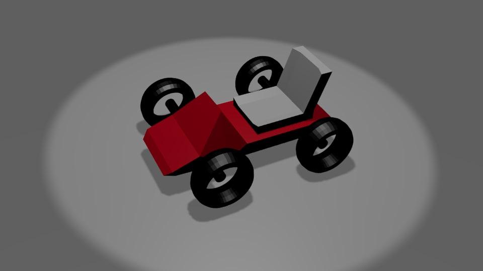 standard kart 3d model