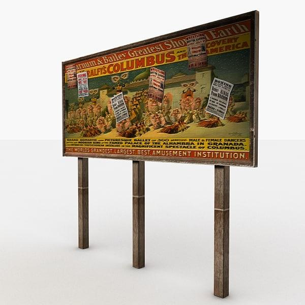 old wood billboard max