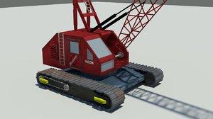 manitowoc 4000w crawler crane 3d max