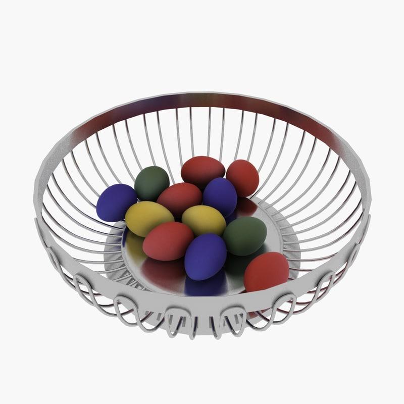 3d egg basket