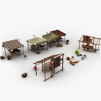 3ds max scene oriental marketplace