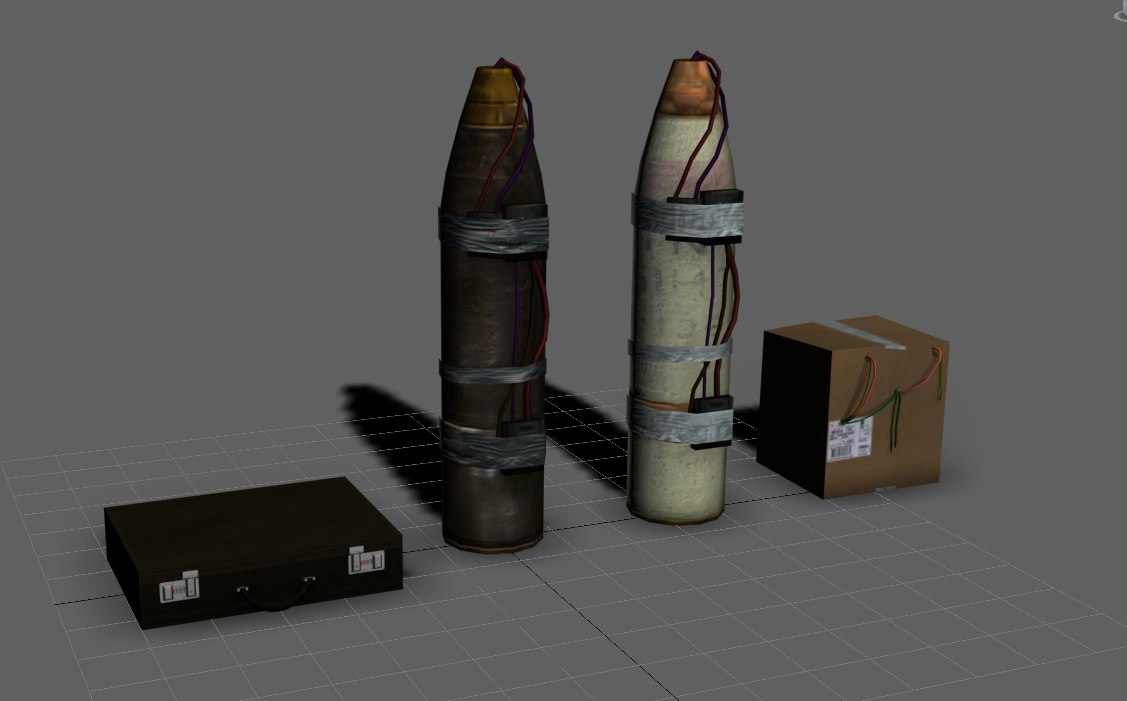 3d model improvised remote ied
