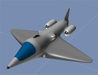 3d jet fighter aircraft