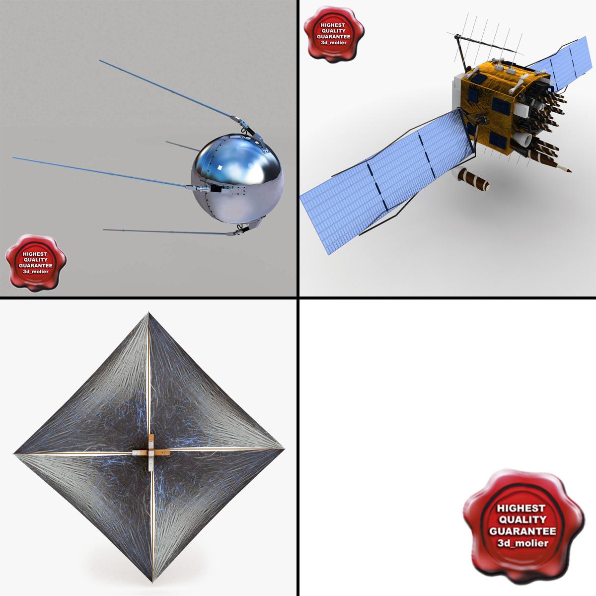 satellites gps navstar 3d model