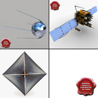 satellites gps navstar 3d model