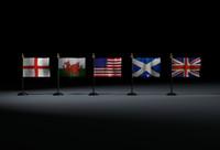 Mini scottish US english british welsh union jack flag