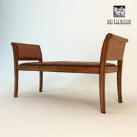 3d bench sofa couch model
