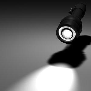 3d flashlight darkness model