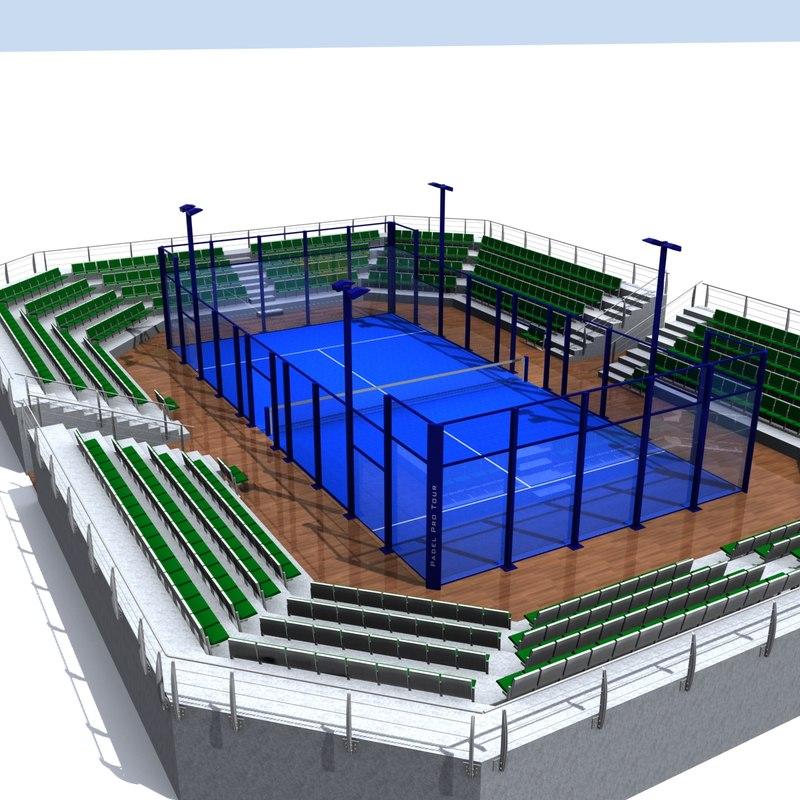 paddle court 3d model