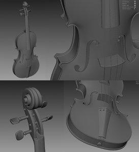 3d model violin string instruments