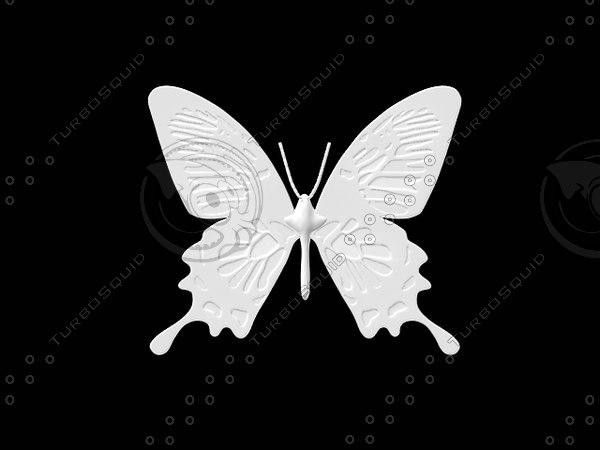 butterfly programmed numerical 3d model