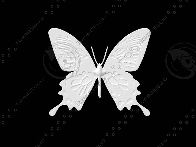 butterfly programmed numerical 3d model