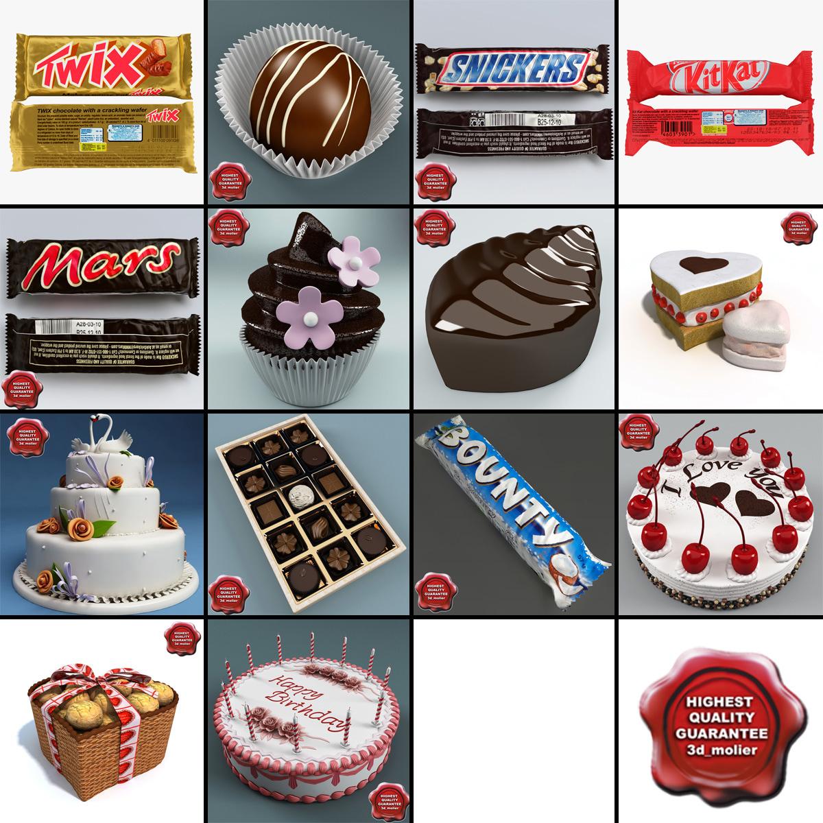 3d model sweets v2