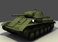 free t-70 tank 3d model