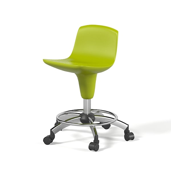 3d technician swivel stool