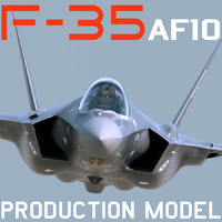 US Air Force F-35 AF-10 Lightning II with pilot