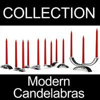 modern design candelabras 2 3d model
