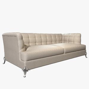 photorealistic sofa king 3d model