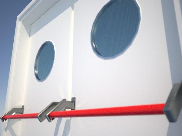 doors anti fires 3d 3ds