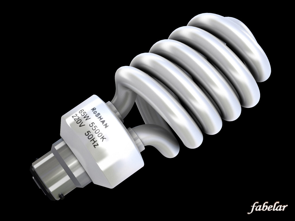 energy saving bulb 3d model