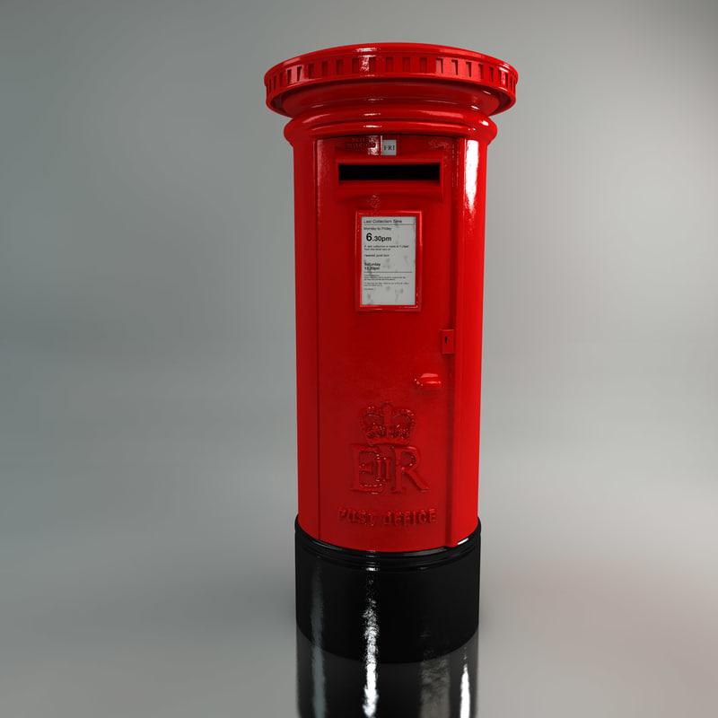 red post box c4d