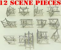 3d 3ds truss scene