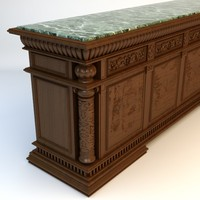 Antique Marble Top Bar