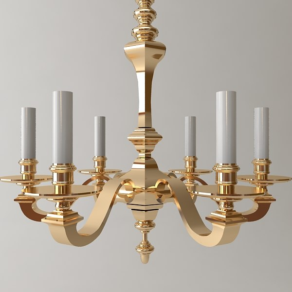 3ds antique chandelier