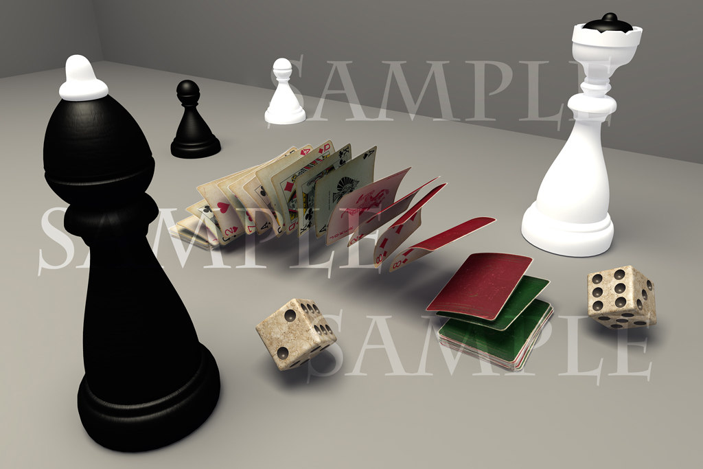games cards chess 3d max