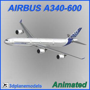 3dsmax airbus a340-600