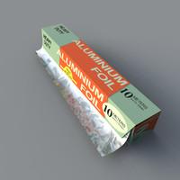 box tin foil 3d model
