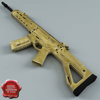 Bushmaster Adaptive Combat Rifle ACR MASADA Low Poly
