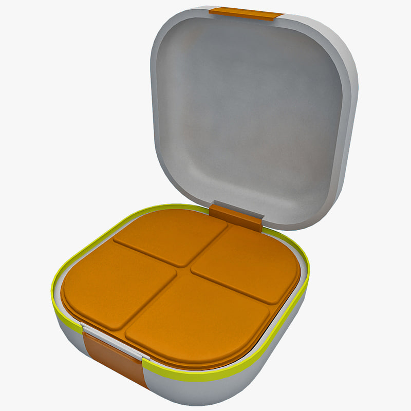 camping picnic food container 3d model