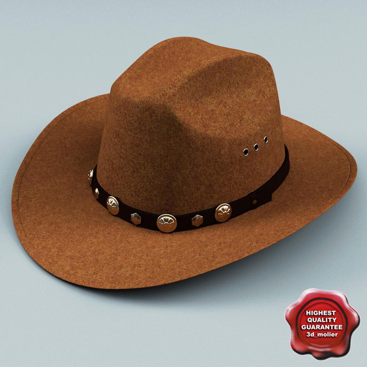 3d model of cowboy hat v2