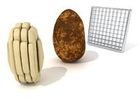 potato fry 3d lwo